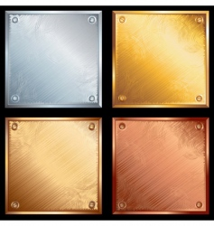 metal plates vector image
