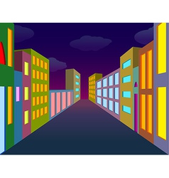 Night city street vector image vector image