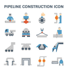 pipeline construction icon vector image vector image