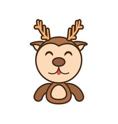 Reindeer baby animal funny image vector