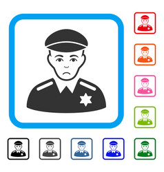 Sheriff framed sadly icon vector