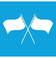 Two flags icon simple vector