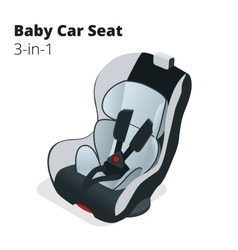 Safety car seat for baby and kid isolated on vector