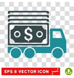 Cash lorry icon vector