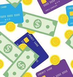 money seamless pattern vector image