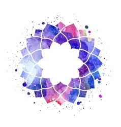 Watercolor geometric cosmic frame vector