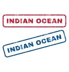 Indian ocean rubber stamps vector
