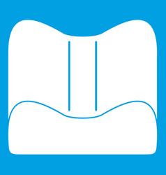 Orthopedic pillow icon white vector