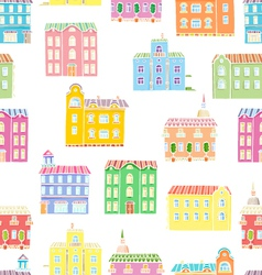Bright houses pattern vector