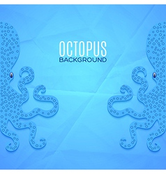 Background with octopuses vector