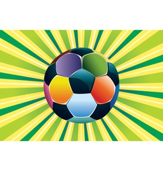 Soccer ball on green background3 vector