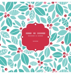 Christmas holly berries frame seamless pattern vector