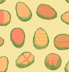 Sketch easter eggs vintage style vector