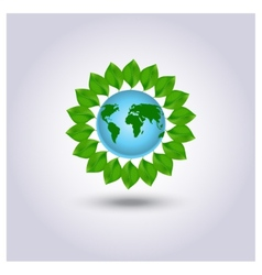 Ecology icon green planet vector