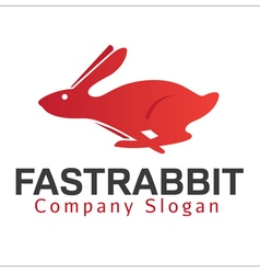 Fast rabbit design vector