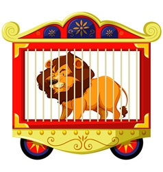 Lion in carnival cage vector