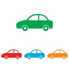 Car sign colorfull set vector