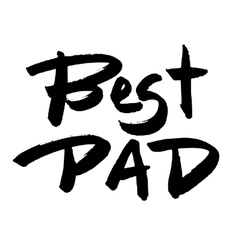 Happy fathers day greeting card vector