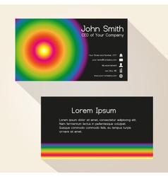 Simple colorful wheel and black business card vector