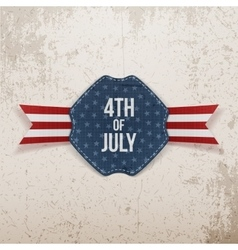 Independence day 4th of july holiday tag with text vector