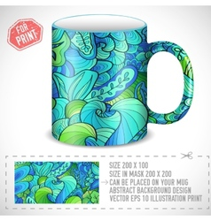 abstract art design for print on a cup conc vector image