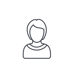 avatar woman thin line icon linear symbol vector image