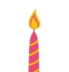Candle flame light pink icon graphic vector