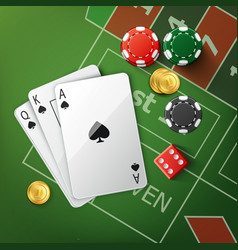 Casino poker table vector