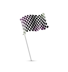 Checkered flag race flag finish start formula vector