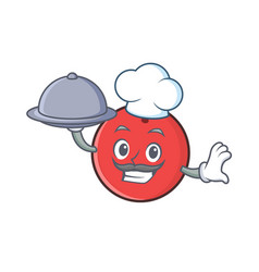 Chef bowling ball character cartoon with food vector
