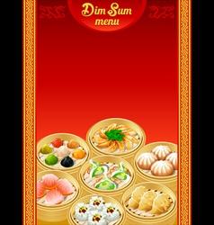Dim sum menu vector image vector image