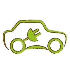 Eco friendly car design vector