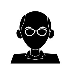 Faceless elderly man with glasses icon image vector