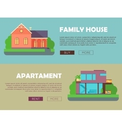 Family House Apartment Advertising Flyer Poster vector image