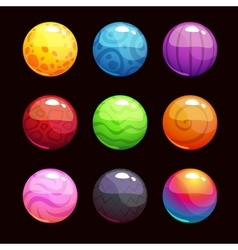 Funny cartoon colorful shiny bubbles vector image vector image