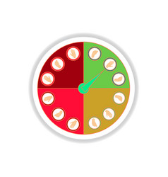 In paper sticker style twister vector