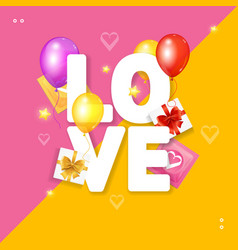 love card concept vector image