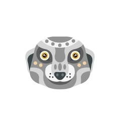 Meerkat african animals stylized geometric head vector