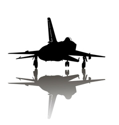 Military plane take off vector image vector image