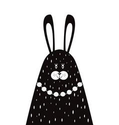mother rabbit in a scandinavian style vector image