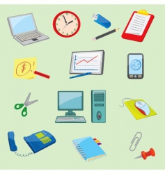 office equipment icons vector image