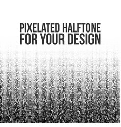 pixelated halftone gradation vector image