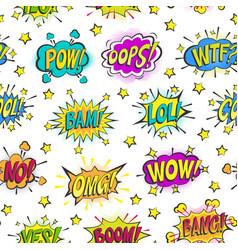 Pop art comic bubbles cartoon popart vector