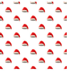 Red santa claus hat pattern vector
