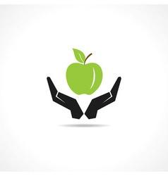 Save healthy food concept vector
