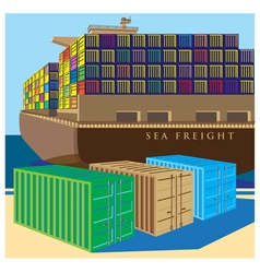 sea freight vector image vector image