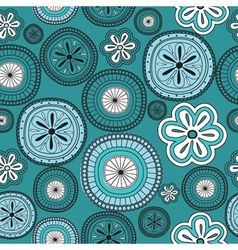 Seamless flower retro background vector image vector image