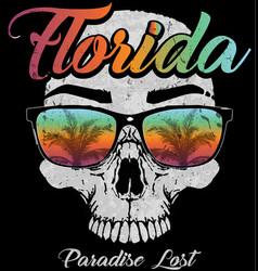 Skull florida graphic design vector