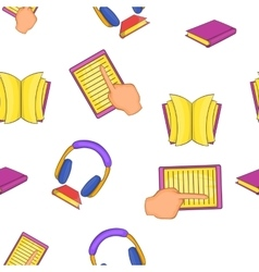 Textbooks pattern cartoon style vector