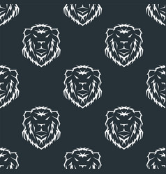 tiger head royal seamless pattern with beautiful vector image vector image